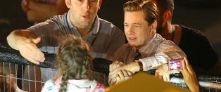 Brad Pitt stoppet opp da han s� denne jenta i folkemengden
