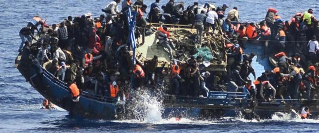 Her er flyktningtragedien et faktum