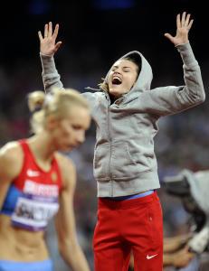Her jubler Anna for OL-gull. N� er hun avsl�rt