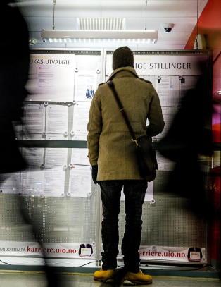 130.000 nordmenn st�r uten jobb