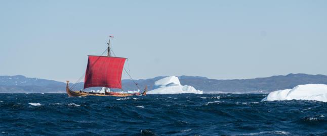 Norsk vikingskip har n�dd Nord-Amerika