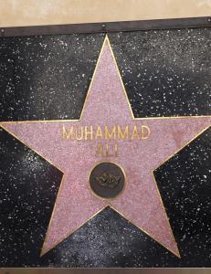 Muhammad Ali har en stjerne p� �Walk of Fame�, men den er annerledes enn absolutt alle de andre