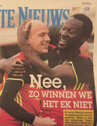 Belgia slaktes i avisene etter møtet med Høgmo