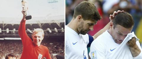 England: Fra gull i VM i 1966 til 50 �r med smerte
