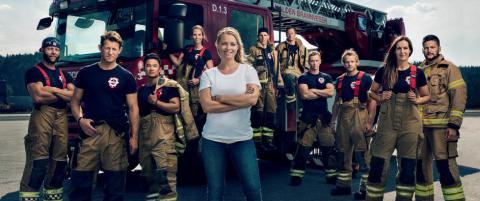 Henriette Bruusgaard tar pause fra mammapermen for � lede brannmann-konkurranse