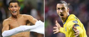 Ronaldo og Zlatan - to verdensstjerner uten gull i mesterskap