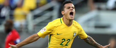 Coutinho scoret tre da Brasil slo tilbake med storseier