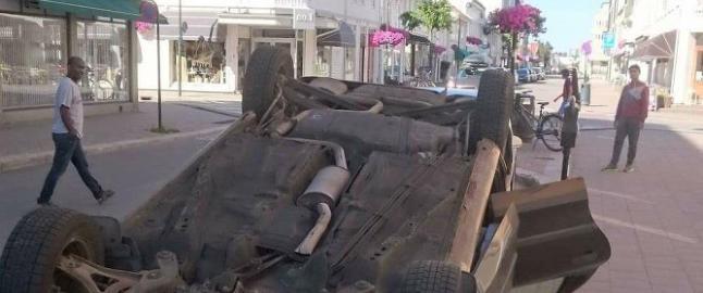 Politiet trodde det var en ulykke - viste seg � v�re kunstverk