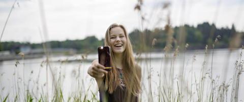 Som 17-�ring konkurrerte norske Andrea med Oprah Winfrey om � ha flest Instagram-f�lgere