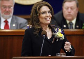 TROR NOK IKKE EVOLSJONEN: I USA er det st�rre aksept for � ikke tro p� evolsjonen, og kreasjonister som Sarah Palin er det mange av. Foto: AP Photo/Al Grillo/Scanpix