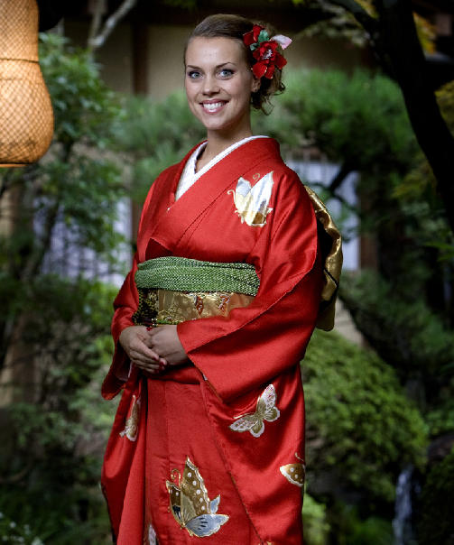 JAPANOFIL:Sigrid Louise Gundersen har bodd to r i Japan. N skal hun guide nye nordmenn i Solens rike. Foto: TV3