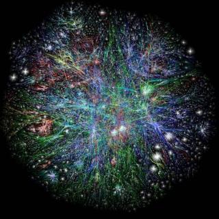 WEBEN I 3D: Et tredimensjonalt kart over webens utbredelse. Illustrasjon: Opte.org