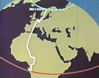 REISERUTEN: Kompaniet tok ikke den enkleste ruten til Afrika, de m�tte tvert om kj�re p� kryss og tvers gjennom Europa, av PR-messige hensyn.