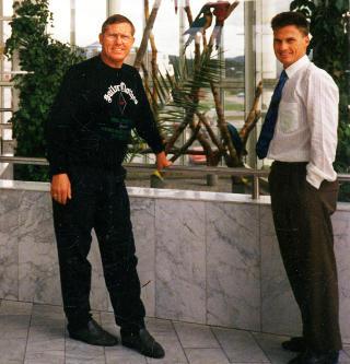 D�DE TIDLIG: Far og s�nn p� 80-tallet. Knut Anker d�de i 1994, 60 �r gammel. Foto: PRIVAT