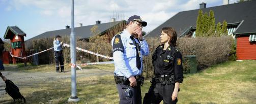 �STEDET: En kvinne i 50-�rene ble i 13-tiden i dag funnet drept i Son i Vestby. Foto: THOMAS RASMUS SKAUG