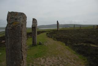 STORVEIS: Monumenter som Ring of Brogdar p� Orkn�yene interesserte germanistene, som mente islendingene var de mest raserene av alle germanerne. De bodde s� avsides. Foto: ASTRID MELAND