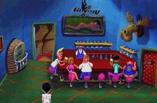 GJENSKAPT: Her ser du hvordan Lefty's Bar ser ut i VGA-gjenskapingen av det f�rste Larry-spillet fra 1991.