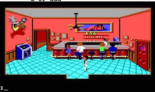 KEN SENT ME: Her er en scene fra Lefty's Bar i det f�rste Larry-spillet fra 1987.