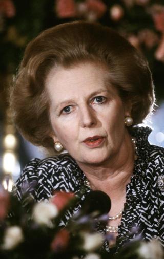 TINA: �There is no alternative�, forkortet som TINA, var et av Margaret Thatchers viktigste slagord. Det betyr at p� tross av kapitalismens problemer er det ikke noe alternativ til dagens �konomiske system. Foto: SCANPIX