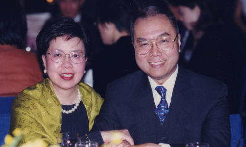 Margaret Chan with cool, Husband David Chan