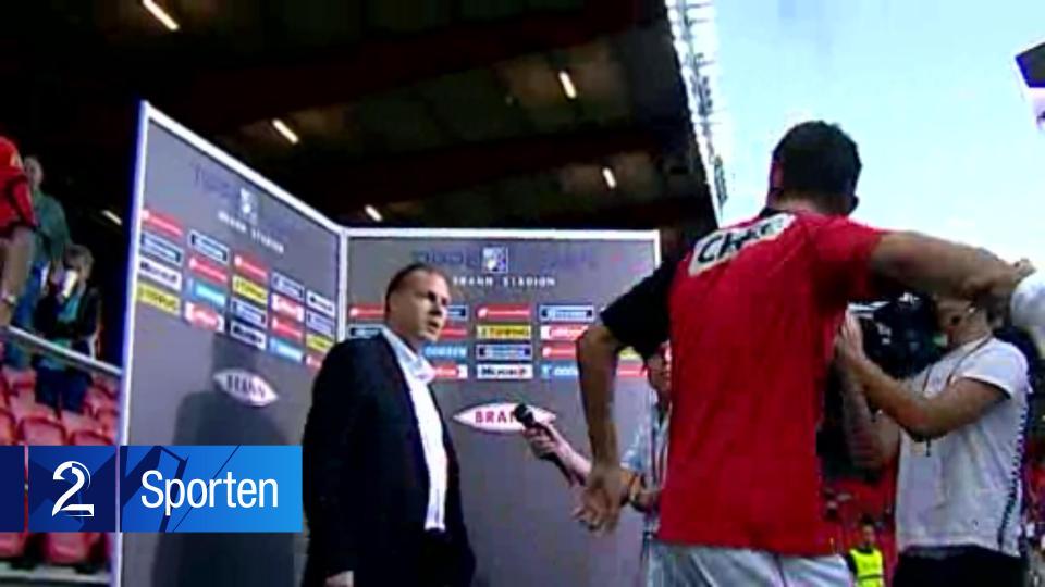 Kjetil Rekdal to Eirik Bakke (ex Leeds): Go away, youre a drunkard, go drink some more! (video)