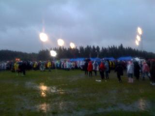 GJ�RMETE:  Det blir gj�rmete n�r rundt 40.000 fans samler seg utenfor Valle Hovin i uv�ret. MMS-foto: Martine Aurdal
