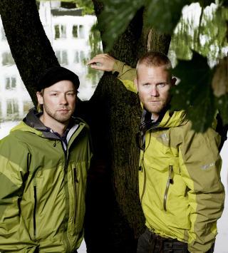 P�DRIVERE: Petter Nyquist og Lars Oma Erichsrud satte i gang redningsaksjonen til Jarle Tr�.