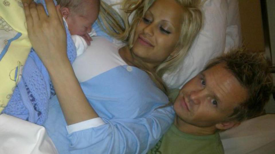 DET FØRSTE BILDET: Linni har blogget om vesle Dennis gjennom hele graviditeten. Dagbladet har fått det første bildet av den lille gutten. Foto: Privat