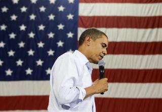 FORBILDE: Hanekamhaug ser mer opp til Palins rival fra valgkampen, Barack Obama. Foto: REUTERS/Larry Downing/Scanpix