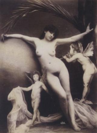 NAKENENGLER: Dette bildet er malt av Gaudenzio Marconi ca. 1870-1879. Foto: WIKIMEDIA