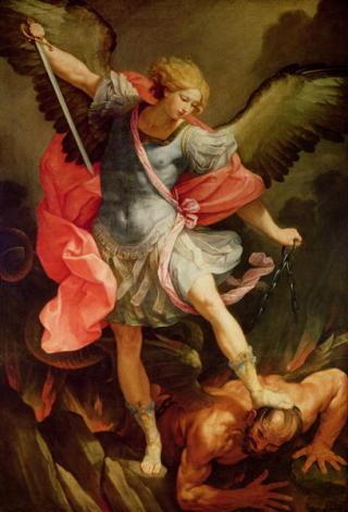 KRIGERSKE ENGLER: Englene kan gj�re mye f�lt, s� lenge det er i Guds tjeneste. Dette er erkeengelen Mikael i romersk utstyr. Foto: WIKIMEDIA