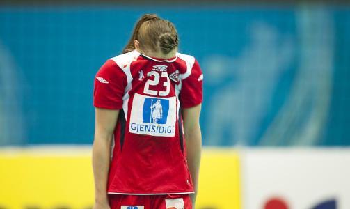 GJEMTE SEG: Camilla Herrem var dypt skuffet etter gårsdagens åttemålstap i semifinalen mot Russland.