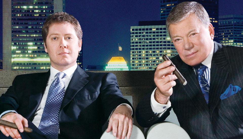 Slagferdige karer:  William Shatner og James Spader er med p� � gj�re Boston Legal til en sv�rt underholdende serie og byr p� replikkvekslinger i s�rklasse.