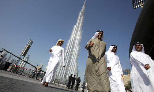 ENORM: Til tross for finanskrise ble verdens h�yeste bygning offisielt �pnet i dag i Dubai. Foto: REUTERS/Ahmed Jadallah