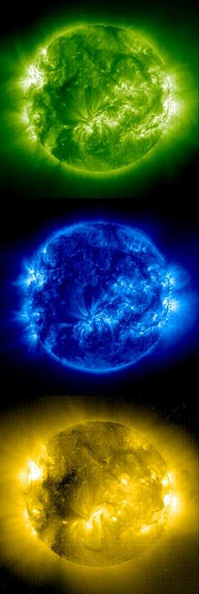 Utbruddet: Slik ser solas utbrudd ut gjennom et av NASAs teleskop.