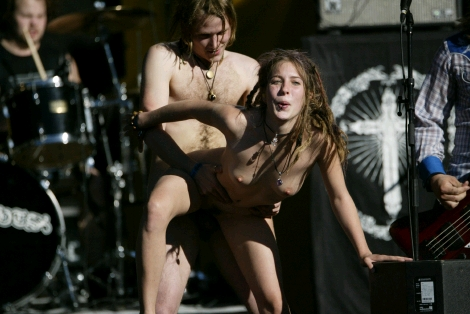 Stage Sex on concert stage at