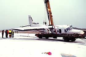 UTSATT: Et annet Dornier-fly fra Kato Air havarerte i Bod� i desember etter � ha blitt truffet av et lyn.