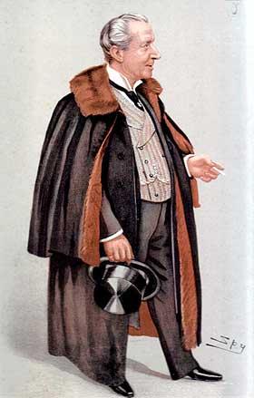 LOJAL LIVLEGE: I flere tiår var Sir  Francis Laking (1847-1914) høyt betrodd livlege på Buckingham Palace. Han kjente alle i kongefamilien personlig, og kjente deres sykdomshistorie. Han beskrives som svært lojal, og ville aldri røpe en hemmelighet. Dette bildet stammer fra en magasinreportasje i prestisjetunge Vanity Fair.