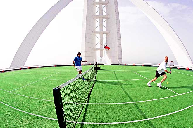Burj Al Arab Tennis Court Safety | www.pixshark.com ...