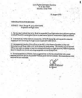 DE FALSKE DOKUMENTENE: Bloggere fant ut at dokumentene som �besviste� Bush sin tjenestefors�mmelse i Nasjonalgarden var falske. Skrifttypen er fra en moderne datamaskin.