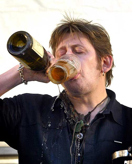 Image result for shane macgowan drunk