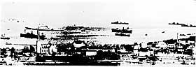 HAVNEBY: Den tyske fl�teinvasjonen av den tr�nderske havna 9. april  1940.