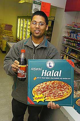POPUL�R FORBRUKSVARE: Halal-pizza har sl�tt an i hele verden, ikke minst har det v�rt en salgssuksess for Rema 1000.