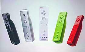 FLERE FARGER: Akkurat som med selve spillkonsollen Nintendo Revolution, kommer ogs� h�ndkontrolleren i flere forskjellige farger.