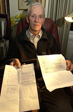 TRUET P� LIVET: Den pensjonerte generalen og mange�rige leder for havarikommisjonen, Wilhelm Mohr (88), har m�ttet t�le alvorlige beskyldninger, truende brev og telefontrusler.