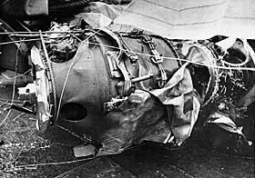 SKADET: Flyvraket hadde ingen skader som pekte mot at det hadde kollidert med et annet fly. Tross dette, har myten om britiske Harrier-fly spunnet seg stor de siste 20 �rene.