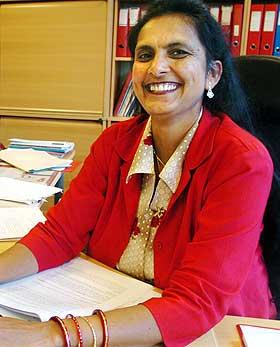 OVERRASKELSE:  F� hadde trodd at Krishna Chudasama (44) kom til � bli Norges f�rste statssekret�r med innvandrerbakgrunn.