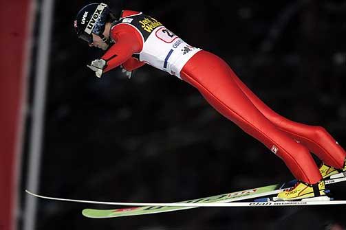 MISLYKTES: Sigurd Pettersen hadde ingen god dag i Oberstdorf torsdag.