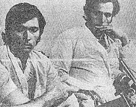 ENESTE OVERLEVENDE: Spanske Imeldo Barreto Leon og Epifamio Lopez var de eneste overlevende. De ble plukket opp etter 20 dager på en flåte.