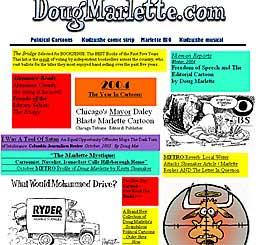 TULLA MED MOHAMMED: Fra den amerikanske tegnerens Doug Marlettes nettside. Han fikk 20 000 protestmail etter at en avis brukte hans tegning.